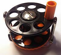 Катушка для подводного ружья Pelengas; комбинированная; с нержавеющим кронштейном; оранжевая