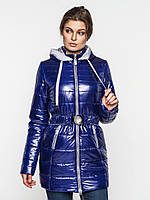 Длинная зимняя женская водонепроницаемая куртка с оригинальным капюшоном 90112/2, фото 1