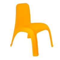 Пластиковый стул детский светло-оранжевый