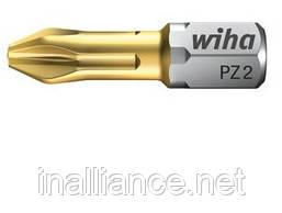 Биты Wiha TiN Torsion PZ 1, 25 мм 04657