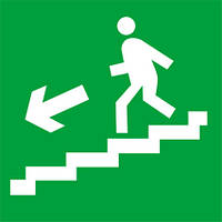 Наклейка: Выход по лестнице вниз (налево) 150х150