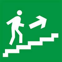 Наклейка: Выход по лестнице вверх (направо) 150х150