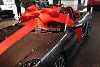 Бант на лобовое стекло с 4 лентами, красный подарочный бант на машину