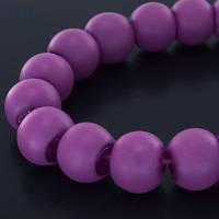 Бусины стекл неон прорезин, 6мм, фиолетовый(136 шт) УТ0002338