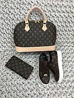 Набор: сумка, кошелек, обувь LV