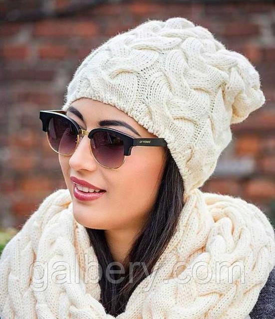 Вязаные зимние шапки и шарфы. Для мужчин и женщин