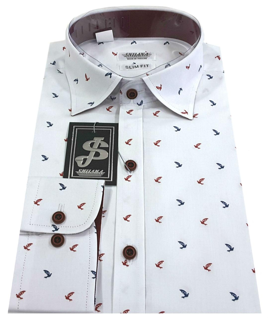 Рубашка мужская c принтом 15-1250 V01