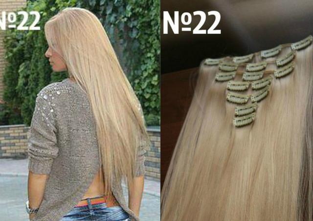 Пряди волос на заколках натуральные и искусственные