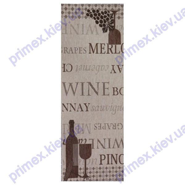 """Безворсовый ковер в кухню Balta Kitchen """"Вино"""" кремовый с коричневым"""