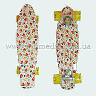 "Со светящимися колесами скейтборд пенни борд с рисунком Angry Birds penny board original 22"""