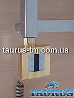 Квадратный золотой электроТЭН KTX4 gold: экран +управление +таймер. Под пульт ДУ. Польша; Мощность: 120-1000Вт