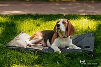 Матрас для собак средних и больших пород Haustier Elegant серо-зеленый 80х50х8