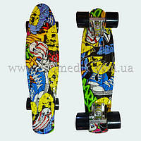 """Стильный скейтборд пенни борд с рисунком Joker penny board original 22"""""""