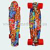 """Стильный скейтборд пенни борд с рисунком Graffiti penny board original 22"""""""