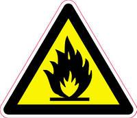 Наклейка: Легко воспламеняемые вещества 150х130