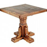 Стильный стол под старину из массива сосны ручной работы