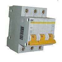 Автоматический выключатель ВА 47-60 3Р 40А 6 кА х-ка С, IEK