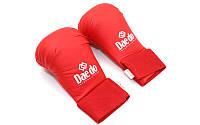 Накладки (перчатки) для карате DAEDO p.М красные, фото 1