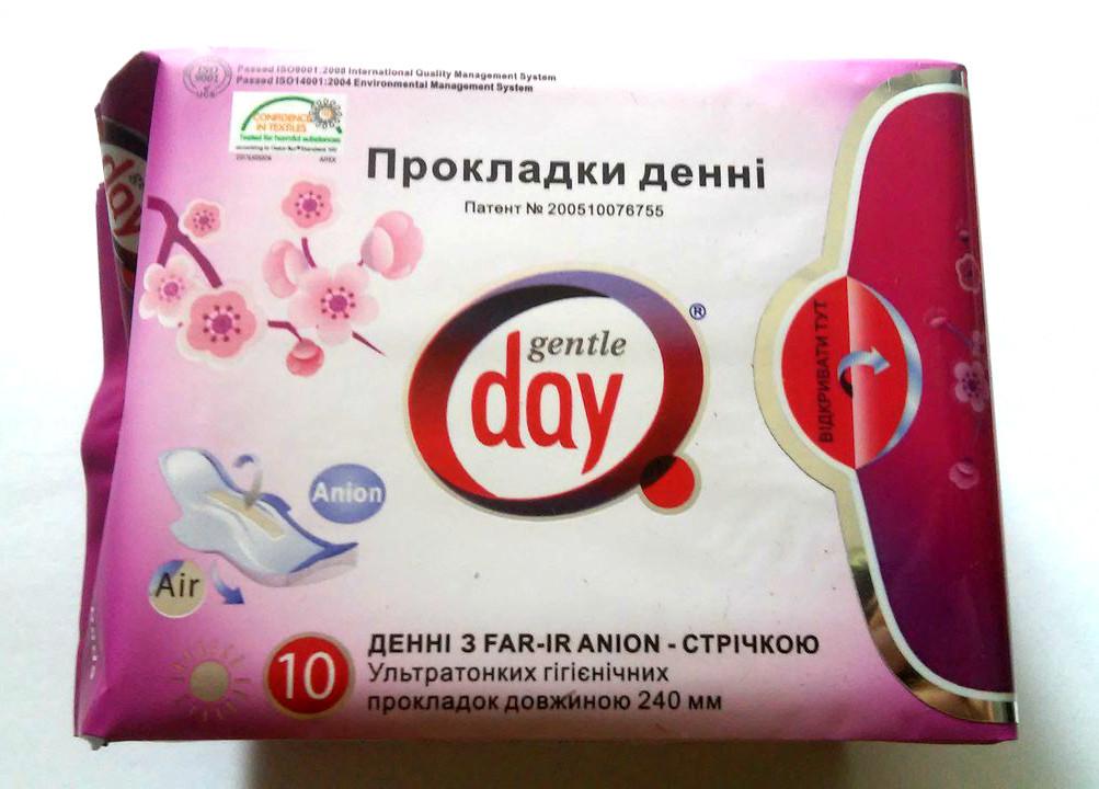 Анионовые дневные гигиенические экопрокладки Gentle Day FAR-IR ANION 10 шт./уп.