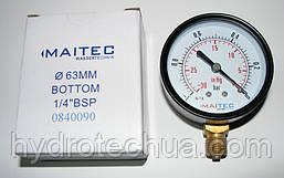 """Марометр радиальный MAITEC (1/4"""") -1 - 0 бар"""
