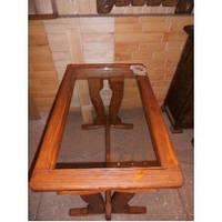 Стол из массива дерева ручной работы для ресторана и кафе