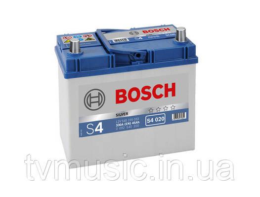 Аккумулятор Bosch S4 020 Silver 45Ah 12V (0092S40200)