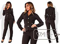 Женский деловой костюм в больших размерах l-1515765
