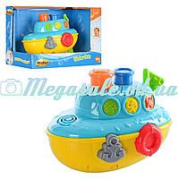"""Игрушка для купания """"Кораблик"""" WinFun: плавает, брызгает водой + свет/звук"""