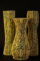 Ваза цветная рисовка Бамбук