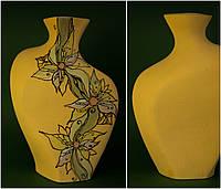 Большая керамическая ваза с рисунком Цветы
