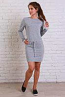 Однотонное женское платье в стиле casual