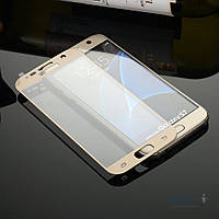Защитное стекло Tempered Glass 3D Full Cover Samsung G930 Galaxy S7 Gold