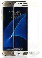 Защитное стекло Tempered Glass 3D Full Cover Samsung G930 Galaxy S7 White