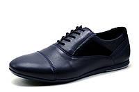 Туфли мужские Falcon, спортивные, натуральная кожа, синие, р. 40 41 42 45