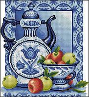 Набор для вышивки крестом Натюрморт с яблоками
