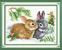 Вышивка крестом Крольчата