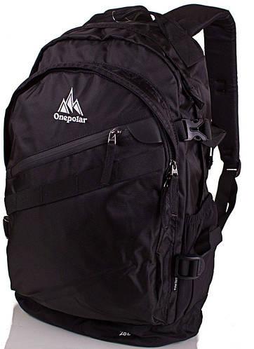 Удобный мужской рюкзак ONEPOLAR (ВАНПОЛАР) W1967-black черный