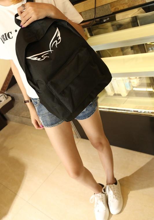 Молодежный городской рюкзак с принтом крыльев