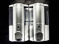 Дозатор для жидкого мыла настенный двойной D-02