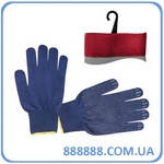 Перчатка трикотажная акриловая покрыта PVC точкой на ладони 24,5 см синяя SP-0132 Intertool
