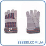 Перчатка из замши и ткани 26,5 см 120пар/ящ SP-0014W Intertool цена за ящик