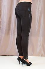 Элегантные стильные черные лосины низкой посадки, фото 2