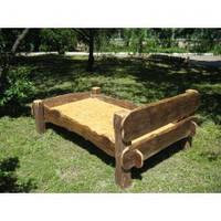 Деревянная кровать из массива сосны ручной работы по приемлимым ценам