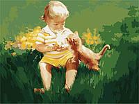 Картины по номерам 40*50 - Два малыша