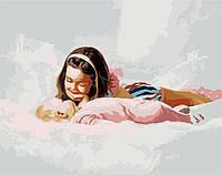 Картины по номерам 40*50 - Младшая сестричка