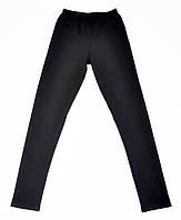 Черные трикотажные лосины для гимнастики
