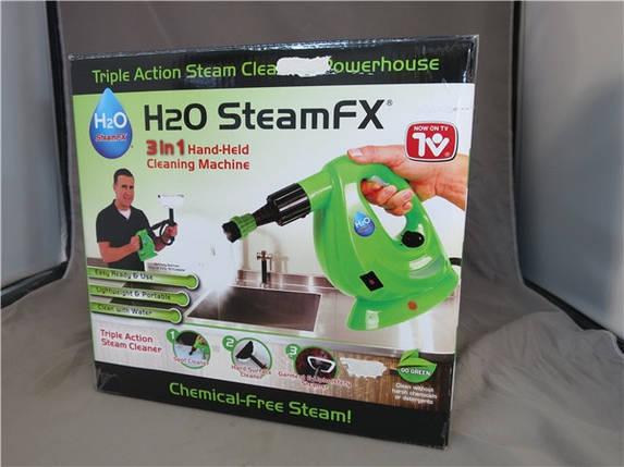 Портативный пароочиститель тройного действия H2O Steam FX, фото 2