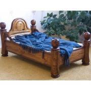 Качественная кровать из натурального дерева ручной работы