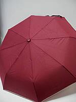 Женский автоматический зонт, бордовый с кантиком