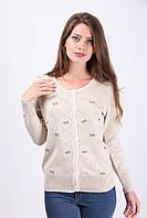 Кремовая кофточка с красивым плетением, фото 1